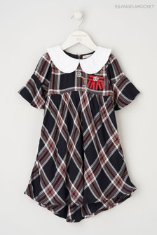 Angel & Rocket Blue Check Dress With Collar