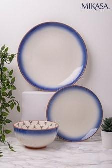 12 Piece Drift Blue Ombre Dinner Set