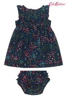 Cath Kidston® Blue Baby Frill Bib Dress