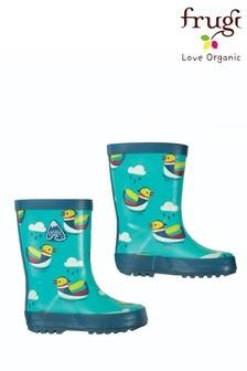 Frugi Wellington Boots In Duck Print