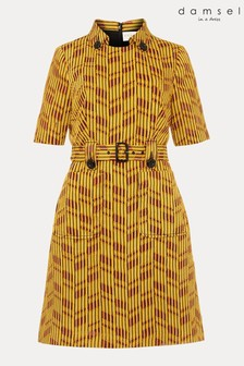 Damsel In A Dress Yellow Doria Textured Dress
