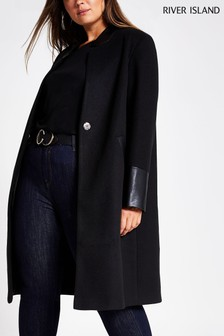 River Island Curve Windsor Coat