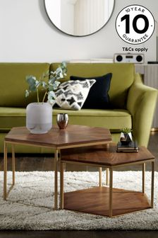 LLoyd Hex Coffee Nest of 2 Tables