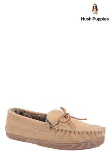 Hush Puppies Tan Allie Slippers