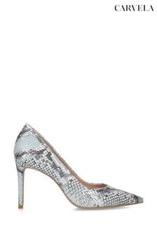 Carvela Alison Blue Snake Heels