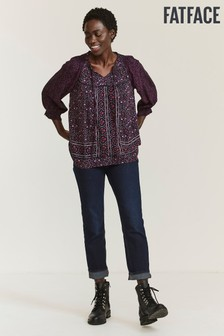 FatFace Purple Lissie Berry Woodblock Blouse