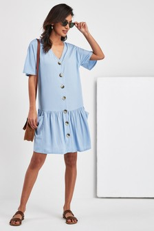 Button Smock Dress