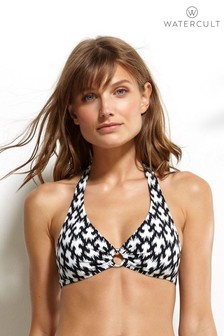 Watercult Ikat Edit halter Bikini Top