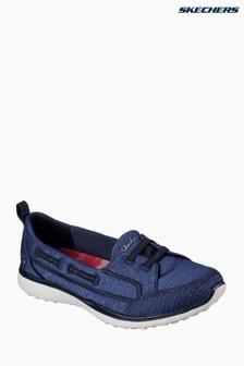 Skechers® Microburst Topnotch Flat G Jersey-Sneaker, blau meliert
