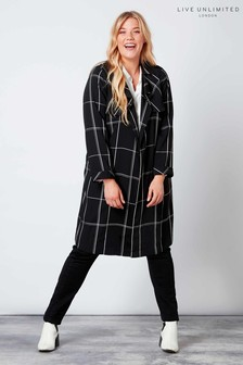 Live Unlimited Black/White Check Trench Coat