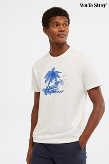 White Stuff White Desert Island Wave Graphic T-Shirt
