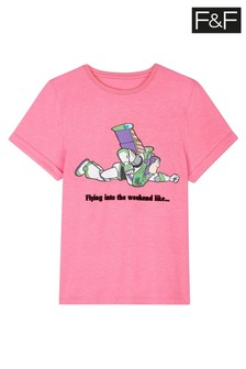 F&F Pink Disney™ Toy Story Buzz T-Shirt
