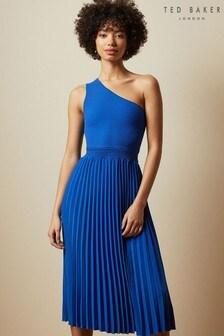 Ted Baker Miriom Asymmetric Knitted Midi Dress