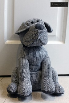 Herringbone Dog Doorstop by Riva Home