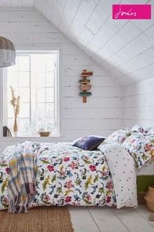 Joules Cambridge Set mit Bett- und Kissenbezügen mit Gartenblumen