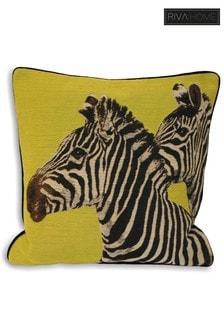 Riva Home Green Twin Zebra Cushion