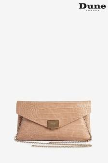 Dune London Nude Benvela Synthetic Envelope Clutch Bag