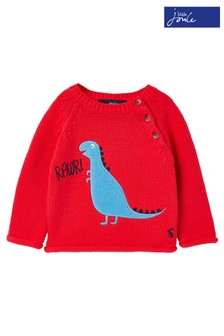 Joules Red Beau Knitted Jumper