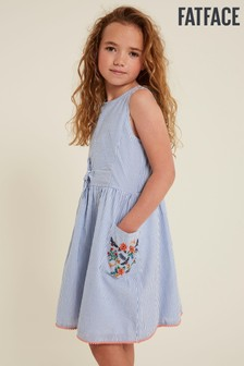 FatFace Blue Sienna Stripe Woven Dress