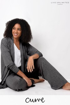 Live Unlimited Curve Dark Grey Jersey Wide Leg Trousers