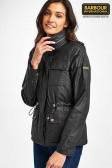 Barbour® International Black Waxed Baton Jacket