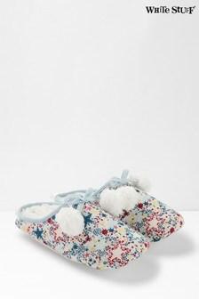 White Stuff Cream Star Mule Slippers
