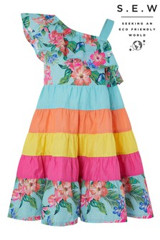 Monsoon S.E.W Fergie Flower Colourblock Dress