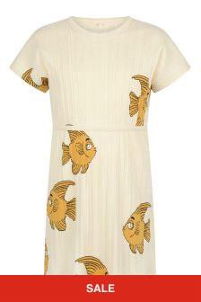 Girls Ivory Fish Print Dress