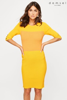 Damsel In A Dress Yellow Morna Colourblock Knit Dress