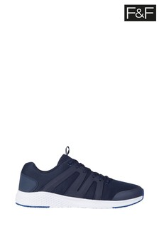 F&F Navy Lifestyle Cobalt Trainers