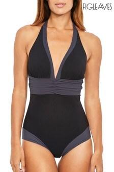Figleaves Colourblock Edge Shaping Longer Length Swimsuit