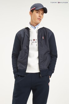 Tommy Hilfiger Mixed Media Bomber Jacket