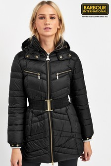 Barbour® International Black Cross Padded Coat