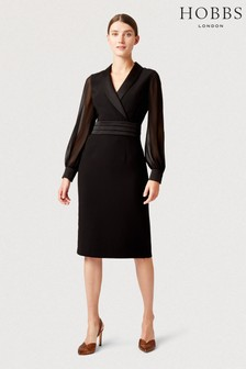Hobbs Black Fridah Tux Dress