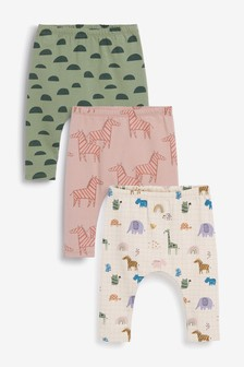 3 Pack GOTS Organic Leggings With Stretch (0mths-2yrs)