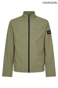 Calvin Klein Green Crinkle Nylon Lightweight Jacket