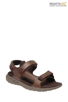Regatta Brown Marine Leather Sandals