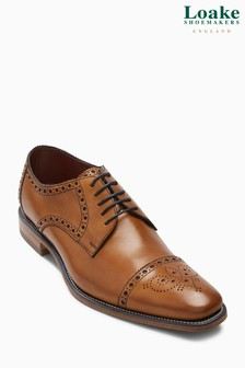 Loake Tan Foley Brogue Shoe