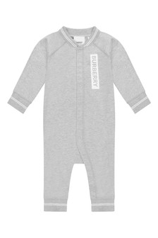 Baby Grey Cotton Deer Coverall