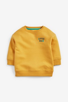 Little Man Crew Neck Sweater (3mths-7yrs)