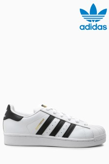 adidas Originals White/Black Superstar Youth