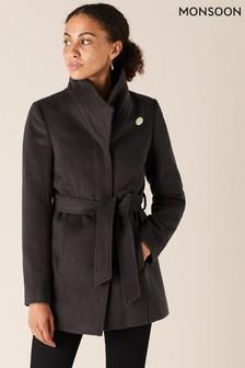 Monsoon Grey Remmie Sustainable Workwear Short Coat