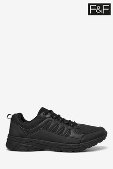 F&F Black Staple Trainers
