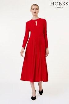 Hobbs Red Suri Dress