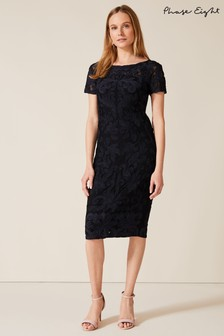Phase Eight Black Anette Tapework Dress