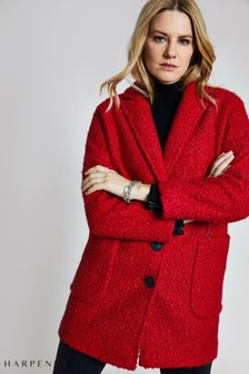 Harpenne Red Textured Coat