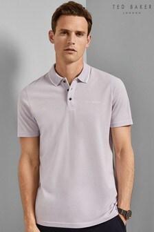 Ted Baker Purple Bloko Pique Poloshirt