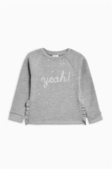 Pearl Slogan Sweater (3-16yrs)