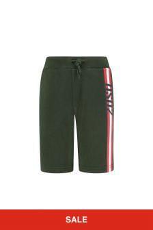 Boys Green Cotton Shorts