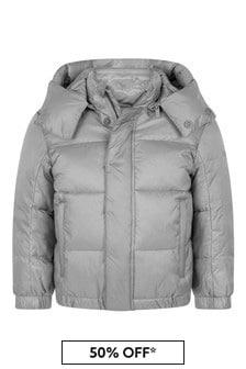 Emporio Armani Boys Grey Padded Jacket